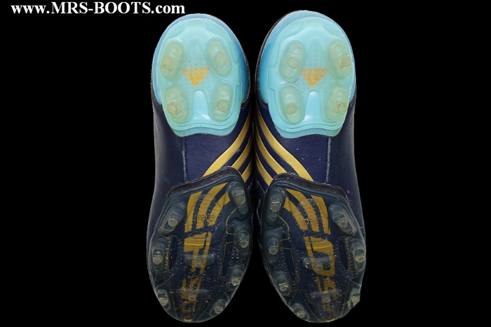 Lionel Messi's Adidas F50 match worn boots. This special made to